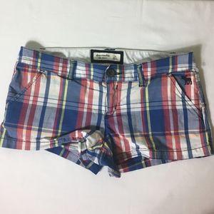 Abercrombie Girls Plaid Shorts